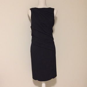 Helmut Lang Black Sleeveless Draped Dress!!